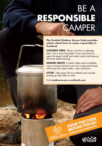 Be a responsible camper poster
