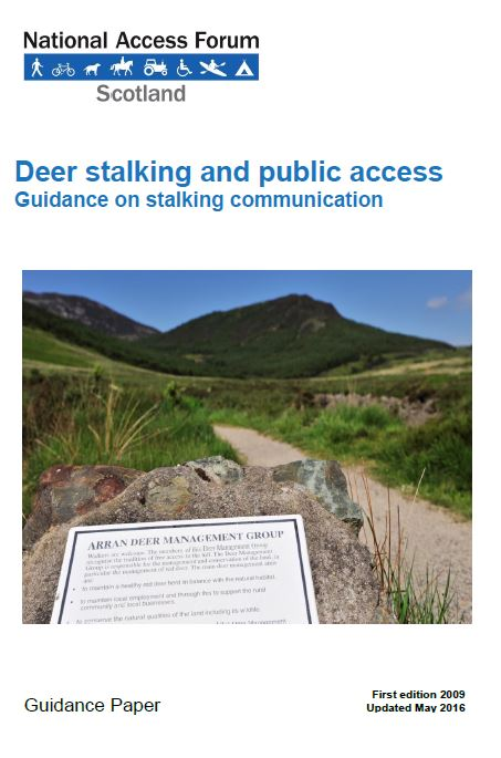 Guidance - Deer stalking and public access front cover