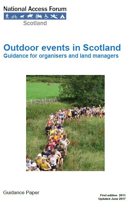 Guidance - Outdoor events in Scotland - front cover