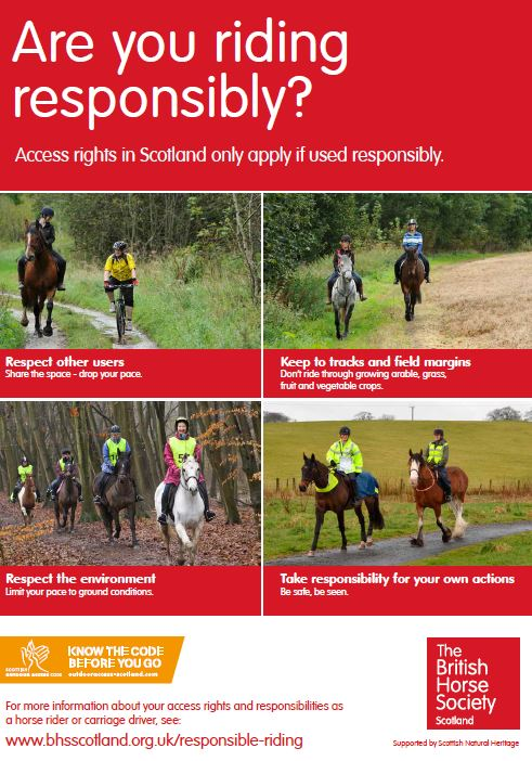 Are you riding responsibly leaflet cover
