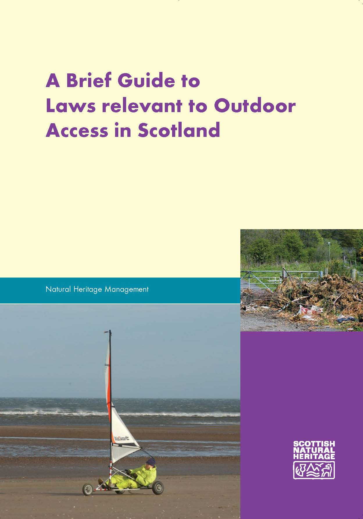 A Brief Guide to Laws relevant to Outdoor Access in Scotland - Front cover