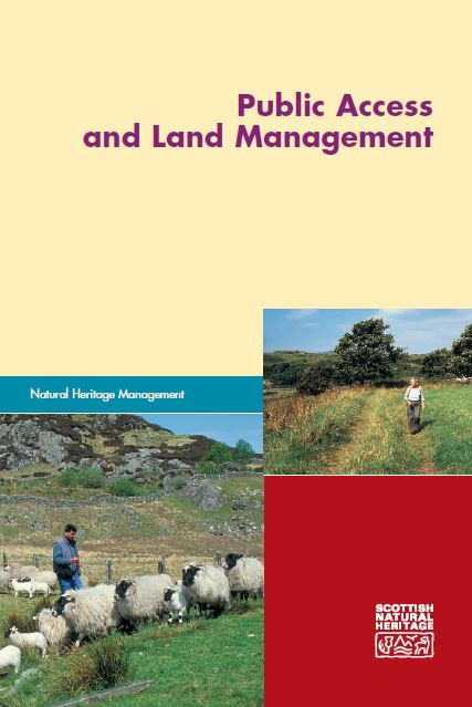 Public access and land management - front cover