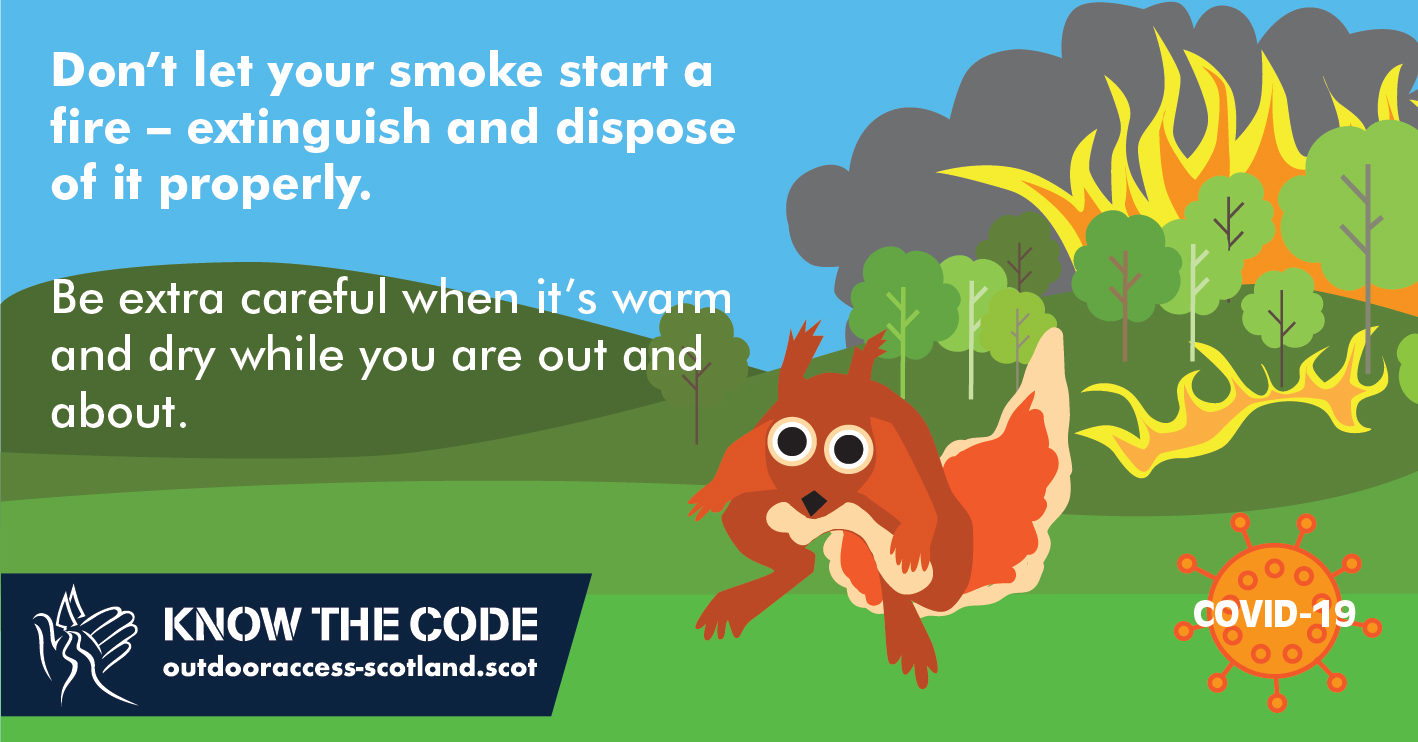 Don't let your smoke start a fire infographic