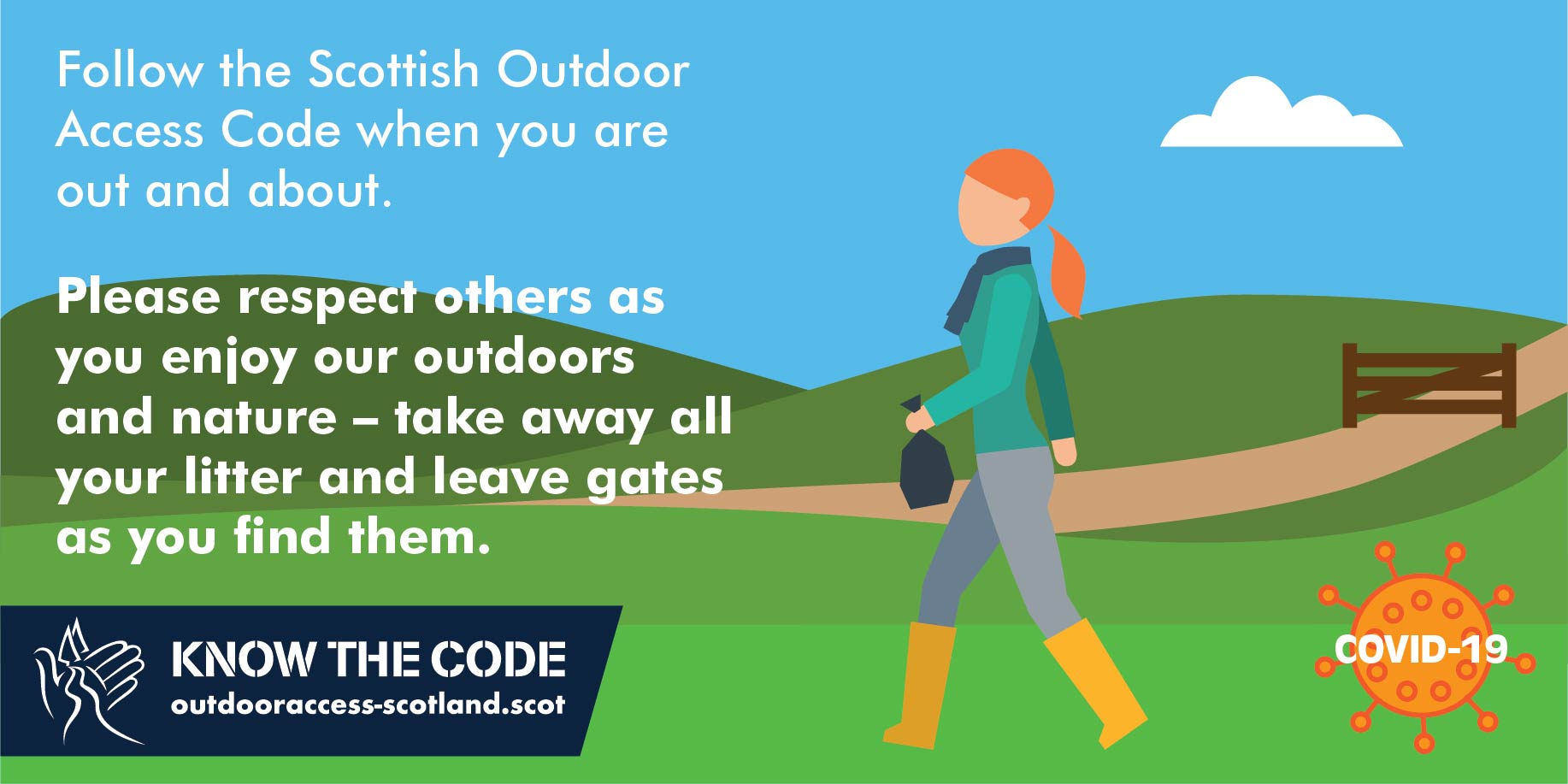 Take away litter and leave the gates infographic