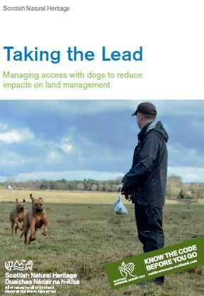 Taking the Lead - Managing access with dogs to reduce impacts on land management front cover