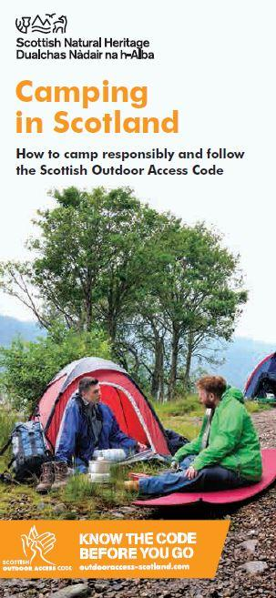 Camping in Scotland front cover