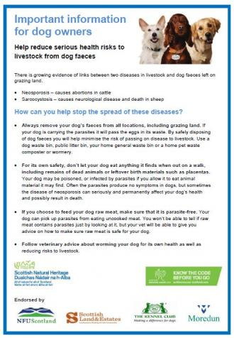 Important information for dog owners front cover