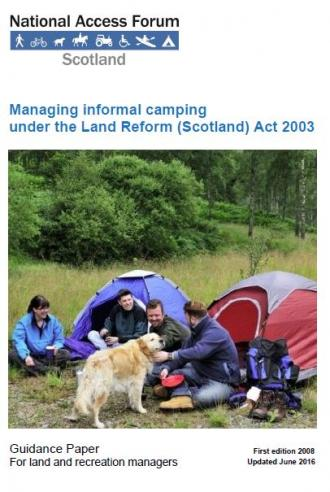Managing informal camping front cover