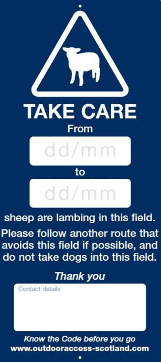 Sign template - lambing