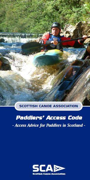 SCA - Paddlers Access code front cover
