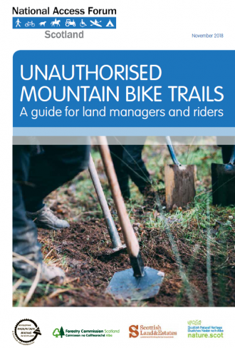 Unauthorised Mountain Bike Trails - front cover