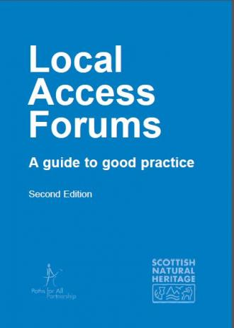 Local Access Forums - a guide to good practice - front cover